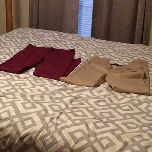 2 pair of no boundaries pants size